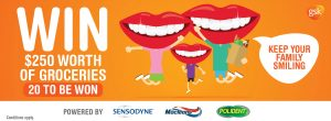Glaxosmithkline Consumer Healthcare – Keep Your Family Smiling – Win 1 of 20 groceries vouchers valued at $250 each