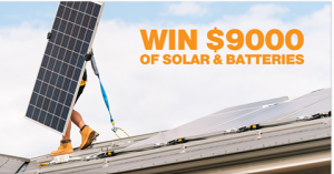 Global Home Solutions – Win $9,000 worth of fully installed Solar and Bateries