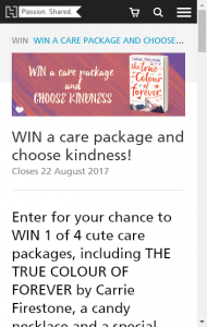 Hachette Australia – WIN 1 of 4 cute care packages