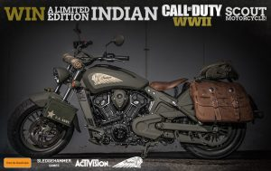 JB Hi-Fi – Win a Limited Edition Indian Call of Duty WWII Scout Motorcycle valued at USD $20,000