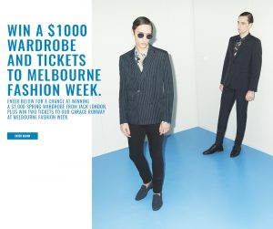 Jack London – Win a Jack London Wardrobe & 2 tickets to Melbourne Fashion Week valued at $1,000
