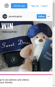 Jetsetting Kids – Win A Travel Sleep Kit  (prize valued at  $204)