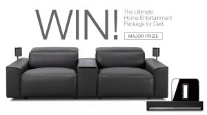 King Living – Father's Day – Win the Ultimate Home Entertainment Package for Dad valued at $12,119 OR 1 of 2 runner-up prizes