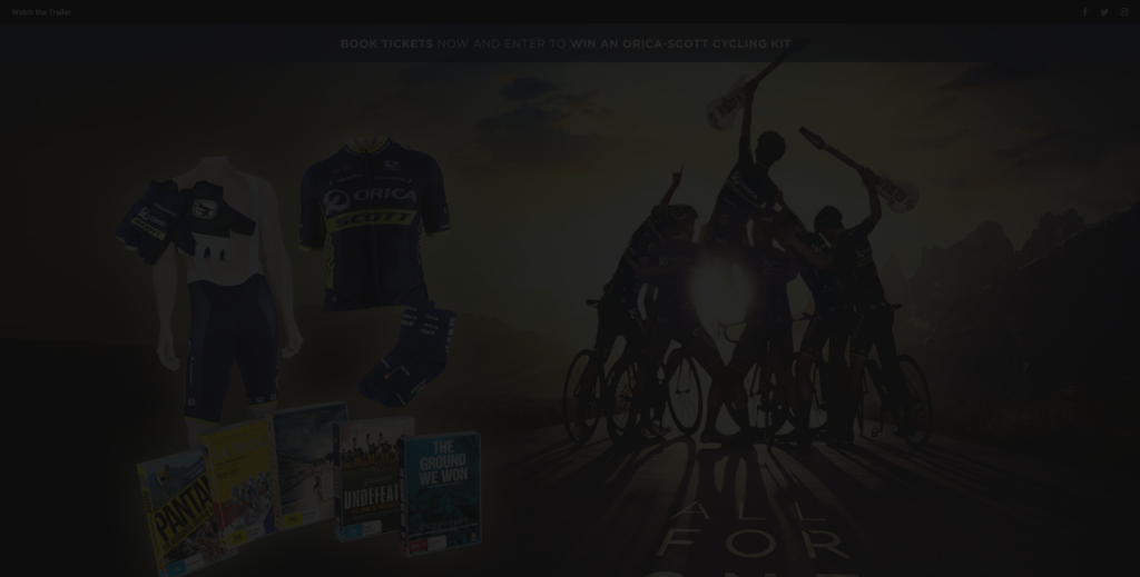 Madman – Win An Orica–scott Cycling Kit  All For One Dvd Pack (prize valued at  $499)