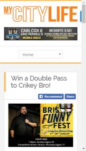 MyCityLife – Win A Double Pass To Crikey Bro