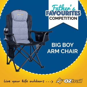 OZtrail Leisure Products – Win an OZtrail Big Boy Armchair for Dad