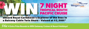 Our Vacation Centre – Epilepsy Action – Win a tropical South Pacific Cruise for 2 plus a chance to Win $50,000