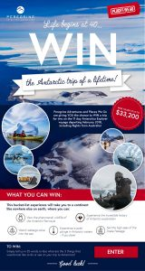 Places We Go & Peregrine Adventures – Win a trip for 2 on the 11 day Antarctica Explorer voyage valued at up to $33,200