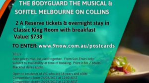 Postcards – The BodyGuard The Musical – Win two A-reserve tickets & overnight stay with breakfast valued at $738