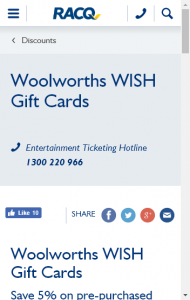 Racq  – Win A $250 Wish Gift Card A Week When You Purchase A Wish Gift Card Between 18 August And 20 October 2017 (prize valued at  $2,500)