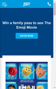 RACV –  Win One Of 45 Family Passes To A Private Screening Of The Emoji Movie At Village Crown Cinemas  (prize valued at  $5,850)