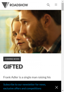 Roadshow Entertainment – Win Tickets To Gifted