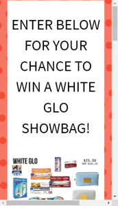 Royal Adelaide Show  – Win A White Glo Showbag