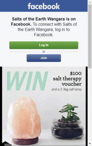 Salts Of The Earth Wangara –  Win A $100 Salt Therapy Voucher And A 2-3kg Salt Lamp