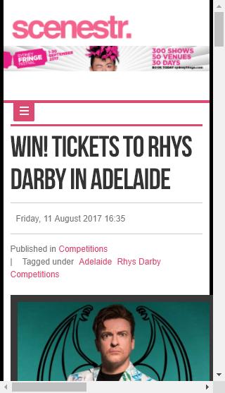 Scenestr – Win Tickets To Rhys Darby