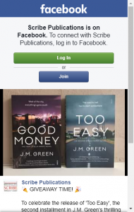 Scribe Publications – Win A Copy Of Too Easy  Good Money Books Closes @12pm