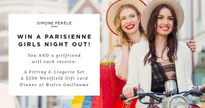 Simone Perele – Win a Parisienne Girls Night Out valued at $1,000