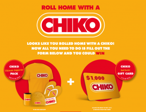Simplot Australia – Chiko Roll Home – Win 1 of 3 major prizes of a $1,000 Visa Gift Card OR 1 of 1,000 Instant Prizes