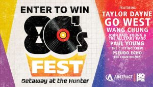 Smooth FM – Getaway at the Hunter – Win 1 of 2 Ultimate 80s Fest Packages