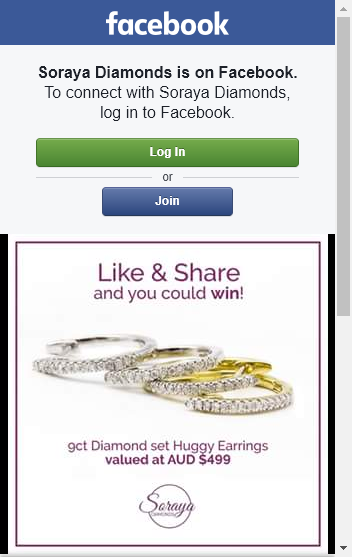Soraya Diamonds –  Win A Pair Of 9ct Diamond Set Of Huggy Earrings In Either White Or Yellow Gold (valued At $49900) (prize valued at  $998)
