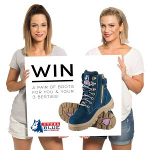 Steel Blue Boots & Alisa and Lysandra – Win a pair of Blue Boots for You and Your 3 besties