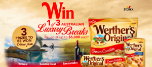 Stuart Alexander – Werther's Original – Win 1 of 3 trips of their choice for 2 valued at up to AU$5,000