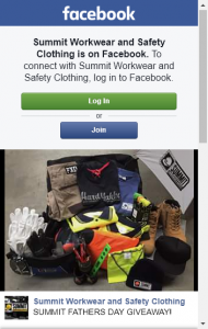 Summit Workware  Safety Clothing – Fathers Day Competition – Win Work Wear (prize valued at  $450)