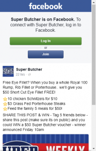 Super Butcher  – Win A $50 Super Butcher Store Voucher