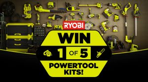 Tenplay – The Living Room – Win 1 of 5 PowerTool Kits valued at $1,000 each thanks to RYOBI