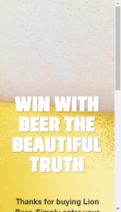 Thirsty Camel Beer The Beautiful Truth Promotion –  Win A Share Of $99900 (prize valued at  $100,000)
