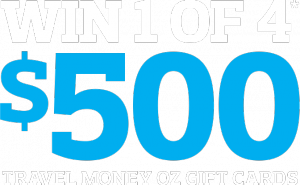 Travel Money OZ – Win 1 of 4 Travel Money Oz Gift Cards loaded with $500 AUD each