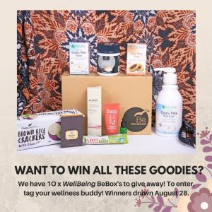 Wellbeing Magazine – Win 1 of 10 WellBeing BeBox's full with gifts