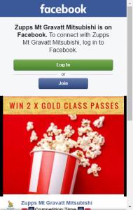 Zupps Mtgravatt Mitsubishi –  Win 2 X Gold Class Movie Tickets
