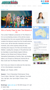 Aussie Kids – Win A Family Pass To See The Wizard Of Oz