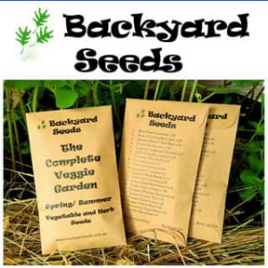 Backyard Seeds – Win A Complete Veggie Garden Seed Pack (prize valued at $29.95)