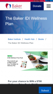 Baker Heart and Diabetes Institute – Win a $700 Wellness Prize Pack Plus Receive 6 Free Recipes from The Baker IDI Wellness Plan (prize valued at $780)