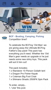 BCF – Win Father's Day Prize Pack