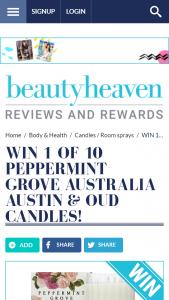 Beauty Heaven – Win 1 Of 10 Peppermint Grove Australia Austin  Oud Candles