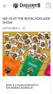 Charlesworth Nuts – Win All Six Of Our Charlesworth Showbags?