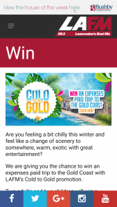 Cold to the Gold LAFM – Win A Trip To Gold Coast