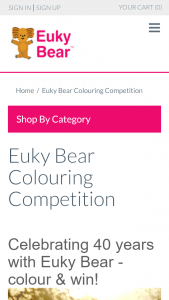 Euky Bear Colouring Competition