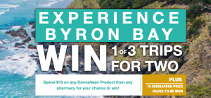iNova Pharmaceuticals – Dermaveen Experience Byron Bay – Win 1 of 3 trips for 2 to Byron Bay valued at up to AUD$3,825 each