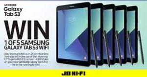 JB HiFi – Win 1 Of 5 Amazing Samsung Galaxy Tab S3 Wi-Fi 32gb Devices