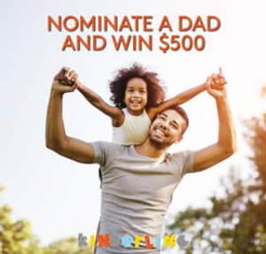 Kinderling Kids Radio – Win A $250 Visa Card For You And A $250 Visa Card For The Dad You Nominate (prize valued at  $500)