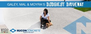 myGC 1029 Hot Tomato – Galey, Mal & Moyra's Dodgiest Driveway –  Win a NU Driveway thanks to Nucon Concrete