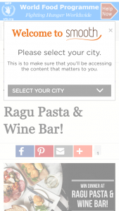 Smooth fm – Win $200 To Spend At Ragu Pasta  Wine Bar (prize valued at  $200)