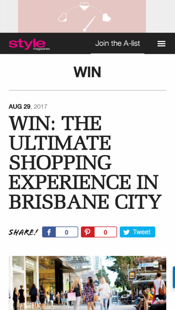 1f71378a265 Style magazines – Win Ultimate Shopping Experience In Brisbane City (prize  valued at  1