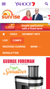 Channel 7 – Sunrise – Win George Foreman Veggie Spiralizers Closes @10am