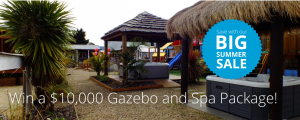 Aarons Outdoor Living – Win 1 of 2 Gazebo & Spa Packages valued at $10,000