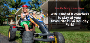 Bound Round – BIG4 Mini Break – Win 1 of 8 vouchers for 2 adults and 2 children to stay at favourite BIG4 Holiday Park